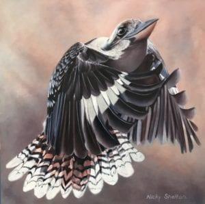 """Maverick"" Iconic Australian Kookaburra painted in oils."